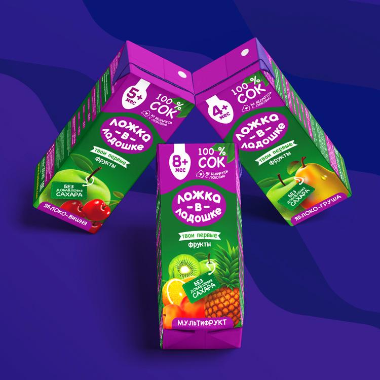 Твои первые фрукты: упаковка сока для детей до года «Ложка в ладошке»
